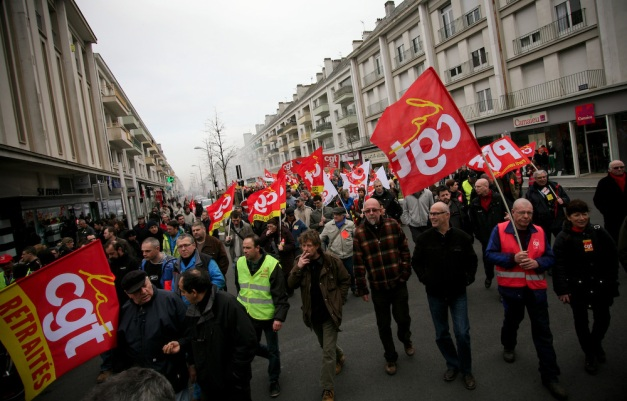 manifestation contre l'accord du 11 janvier du MEDEF